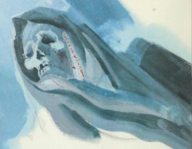 """Illustration by John Lawn from """"The Masque of the Red Death."""""""