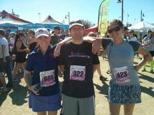 Me, Jeff, Tricia, pre-race