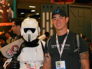 Chris with Storm Trooper