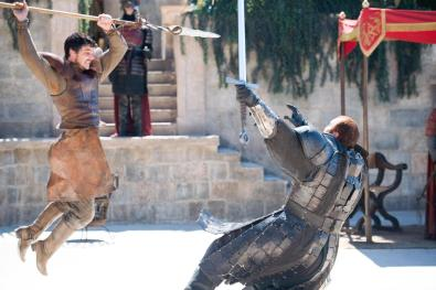 "(This is from season 4, but a great ""trial by combat"" scene.)"