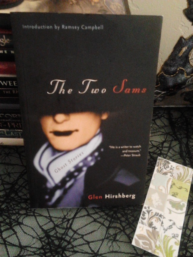 The paperback The Two Sams and a bookmark.