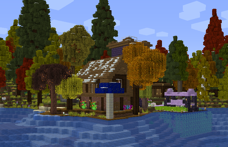 A Minecraft house.