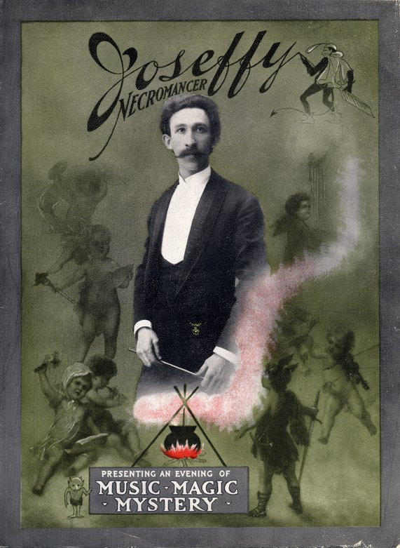 """Early 20th century poster for magician """"Joseffy: Necromancer"""""""